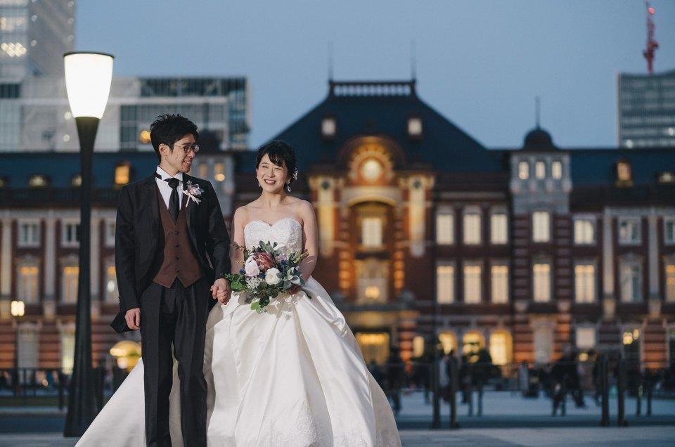 洋装ドレス前撮り撮影 – 東京駅・丸の内・三菱一号館 –