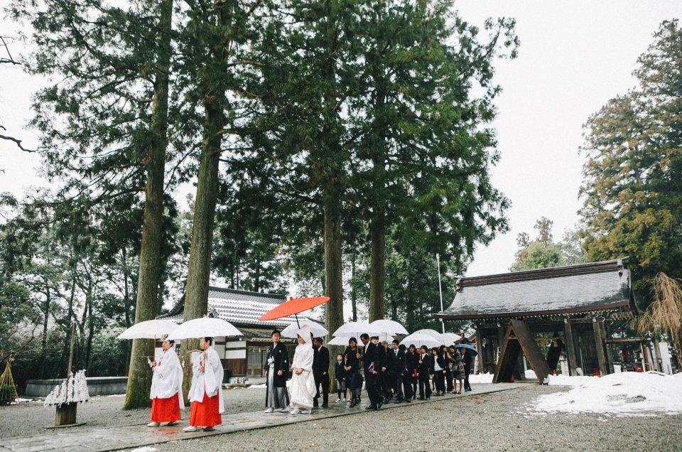 結婚式当日撮影 – 富山県・雄山神社 –