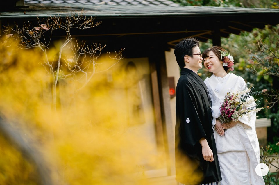 和装白無垢 前撮り撮影 – 横浜・三渓園庭園 –